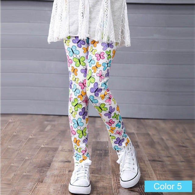 Adorable Little Toddler Girls Rainbow Butterfly's Printed Leggings Pants