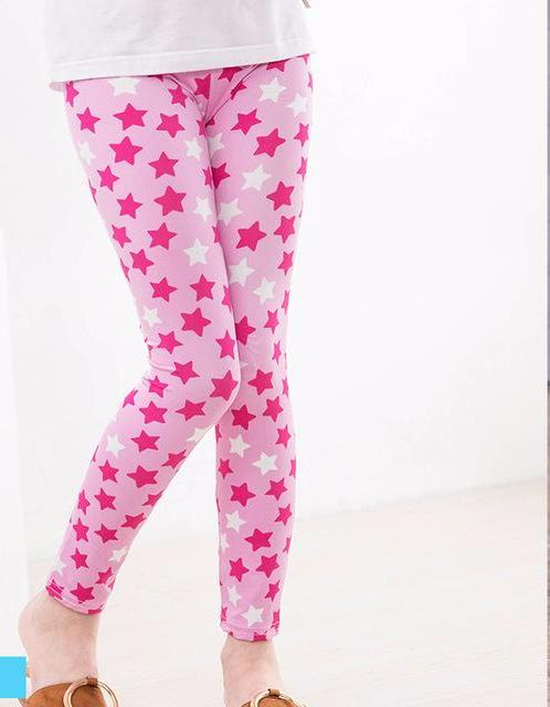 Adorable Little Toddler Girls Pink Star Printed Leggings Pants