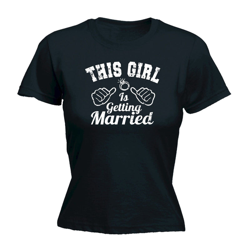 "Women's ""This Girl Is Getting Married"" Graphic Print Short Sleeve T-Shirt Top"