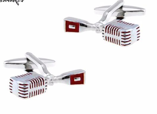 Awesome Old Fashion Microphone Men's Cuff Links