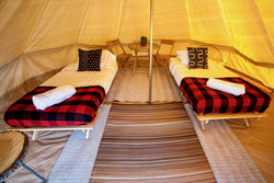 Glamping Tent with Twin Bed (Sleeps 2)