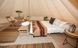 Glamping Tent with Double queen bed (Sleeps 4)