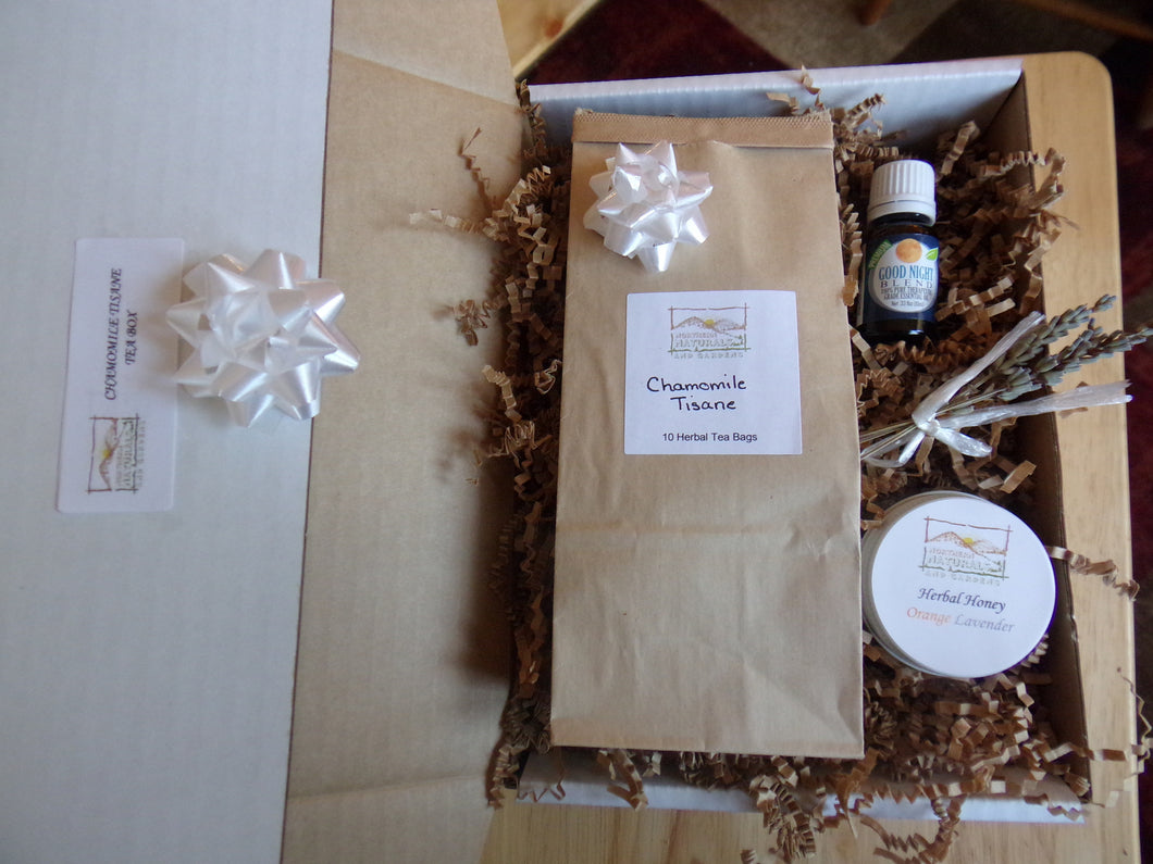 Herbal Tea And Raw Honey Gift Box Northern Naturals And Gardens
