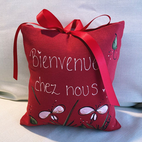 Mini coussin... Rouge...