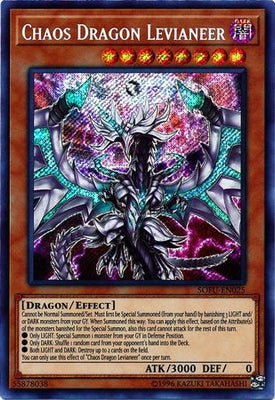 Chaos Dragon Levianeer - SOFU-EN025 Secret Rare 1st