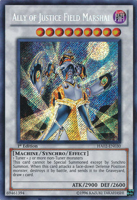 Ally of Justice Field Marshal - HA02-EN030 Secret Rare 1st