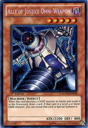 Ally of Justice Omni-Weapon - HA03-EN050 Secret rare 1st