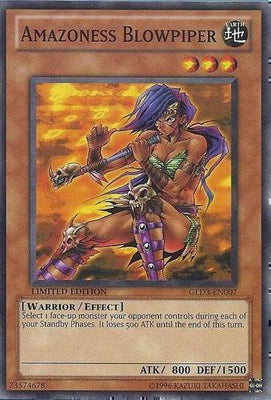 Amazoness Blowpiper - GLD3-EN007 C Limited Edition