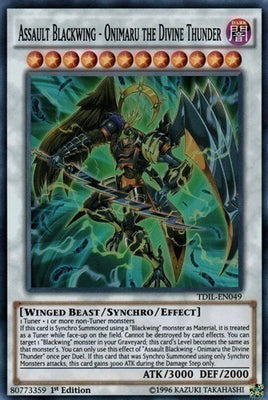 Assault Blackwing - Onimaru the Divine Thunder - TDIL-EN049 SR Unlimited