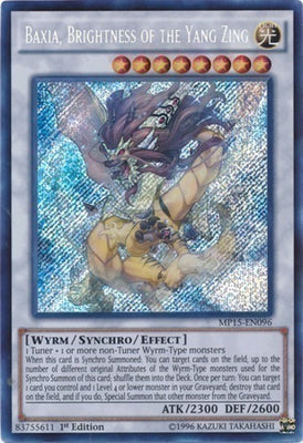 Baxia, Brightness of the Yang Zing - MP15-EN096 Secret Rare 1st