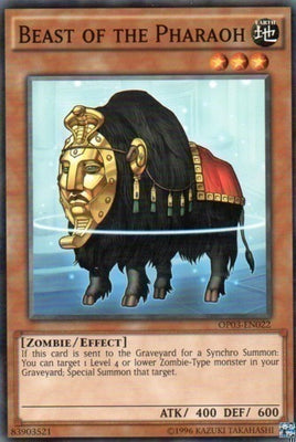 Beast of the Pharaoh - TDGS-EN032 C Unlimited