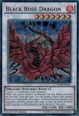 Black Rose Dragon - PGL3-EN059 Gold Rare 1st