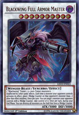 Blackwing Full Armor Master - LED3-EN023 UR 1st