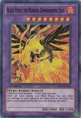 Blaze Fenix, the Burning Bombardment Bird - PRC1-EN012 SR Unlimited