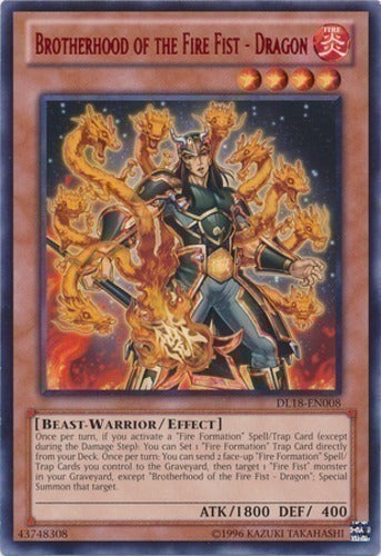 Brotherhood of the Fire Fist - Dragon - CBLZ-EN025 SR Unlimited