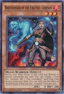 Brotherhood of the Fire Fist - Leopard - LTGY-EN027 C 1st