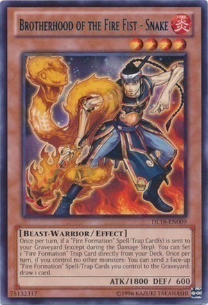 Brotherhood of the Fire Fist - Snake - CBLZ-EN026 SR Unlimited