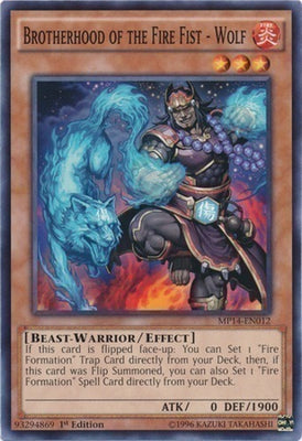 Brotherhood of the Fire Fist - Wolf - LTGY-EN026 C 1st