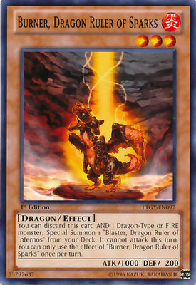 Burner, Dragon Ruler of Sparks - LTGY-EN097 C 1st