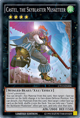 Castel, the Skyblaster Musketeer - PGL3-EN076 Gold Rare 1st