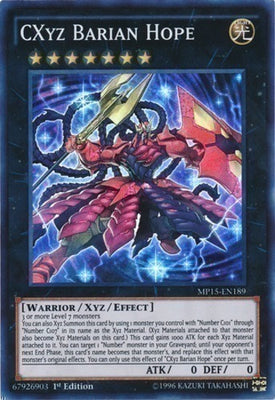 CXyz Barian Hope - NECH-EN096 SR Unlimited