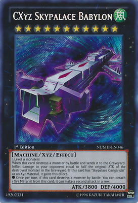 CXyz Skypalace Babylon - NUMH-EN046 Secret Rare Unlimited