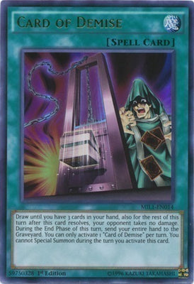 Card of Demise - LCKC-EN029 Secret Rare Unlimited