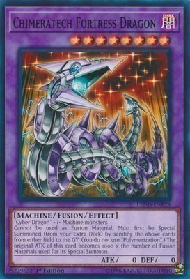 Chimeratech Fortress Dragon - PGL3-EN057 Gold Rare 1st