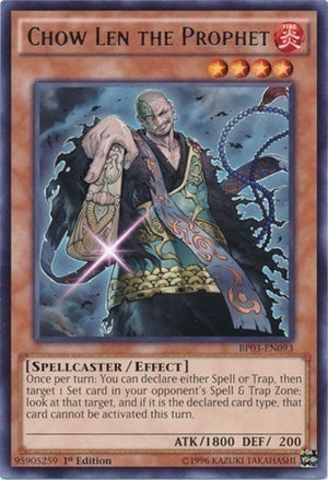 Chow Len the Prophet - BP03-EN093 Shatterfoil Rare Unlimited