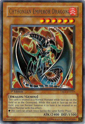 Chthonian Emperor Dragon - TAEV-EN019 UR Unlimited
