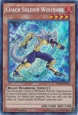 Coach Soldier Wolfbark - JOTL-EN093 Secret Rare 1st