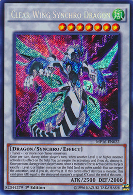 Clear Wing Synchro Dragon - MP16-EN022 Secret Rare 1st