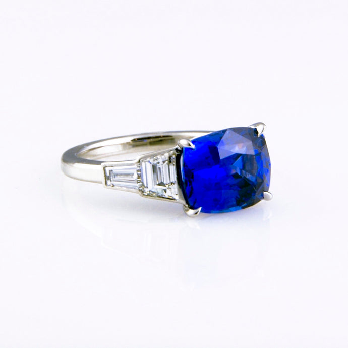 5-stone Blue Sapphire Ring