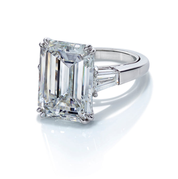 3-Stone Emerald-Cut Diamond Ring