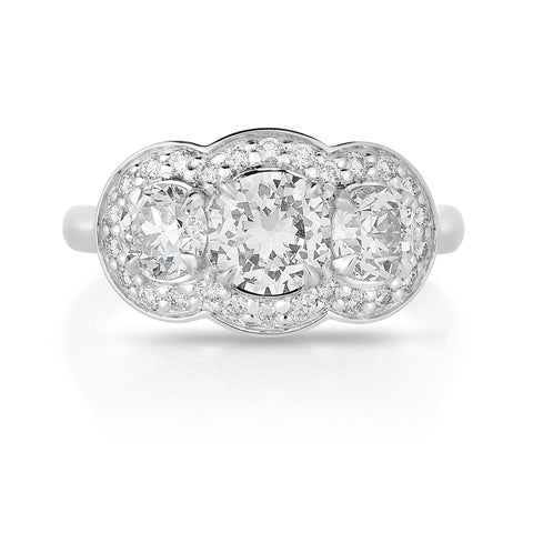 Image of Hierloom Diamond in Custom Ring