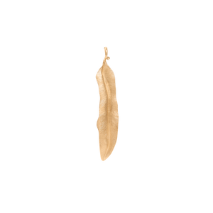 18K Yellow Gold Leaves Pendant