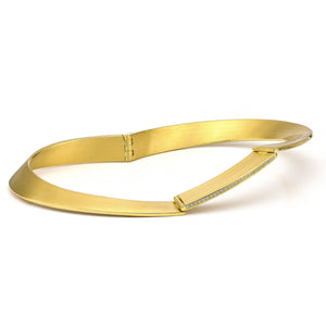 18K Gold & Diamond Bangle Bracelet