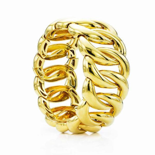 18K Gold Flexible Bangle Bracelet