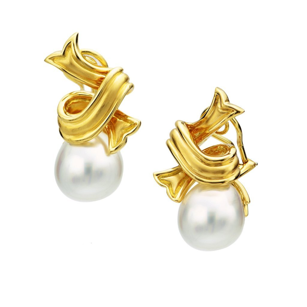 18K & South Sea Pearl Earrings