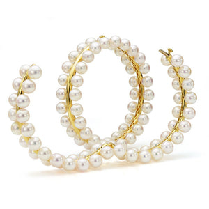 18K Yellow Gold  & South Sea Pearl Bangle Bracelet