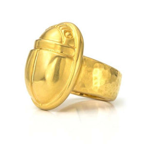 22K Gold Scarab Ring