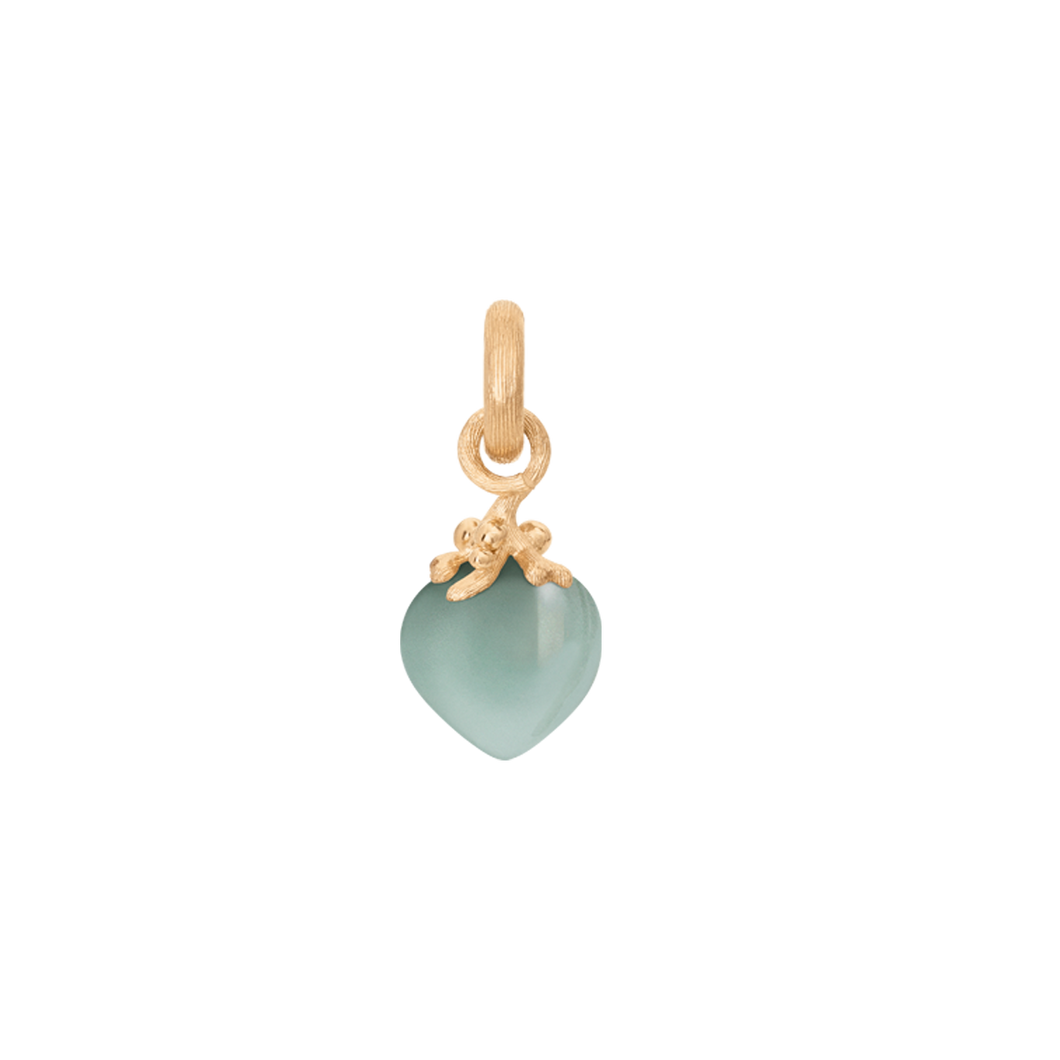 Sweet Drops Charm in 18K Yellow Gold with Aquamarine