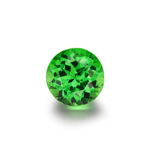 3.03cts. Round Brilliant Cut Tsavorite Gemstone