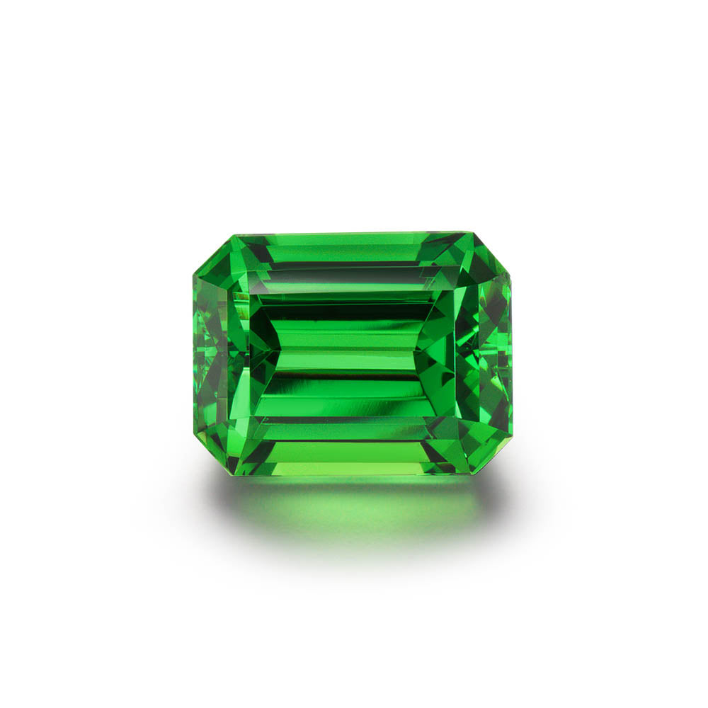 5.34cts. Emerald Cut Tsavorite Gemstone