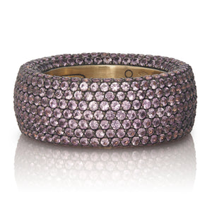 Light Pink Sapphire Pave Ring