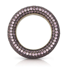 Load image into Gallery viewer, Light Pink Sapphire Pave Ring