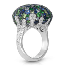 "Load image into Gallery viewer, Multi Gem Stone ""Drip"" Ring"