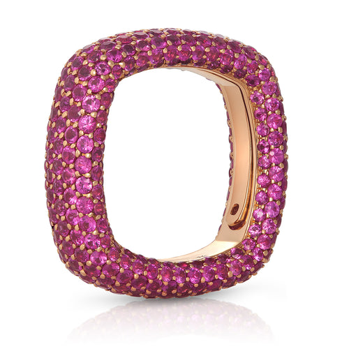 Pink Sapphire Pave Ring