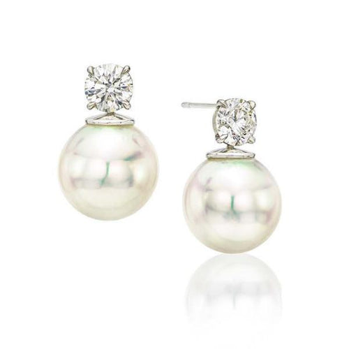 Diamond & South Sea Pearl Studs