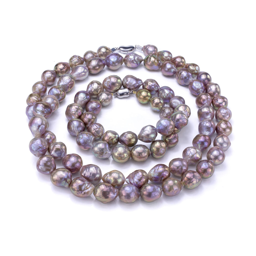 Freshwater Pearl & 18K White Gold Necklace Strands